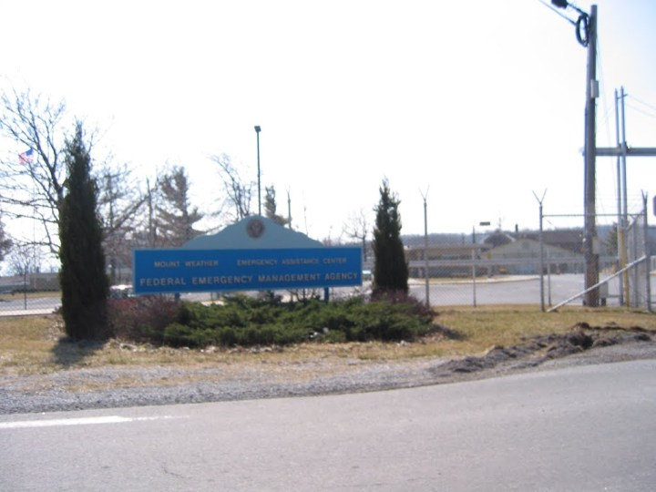 """Another entrance sign reads """"Mount Weather Emergency Assistance Center; Federal Emergency Management Agency"""" also known as FEMA."""