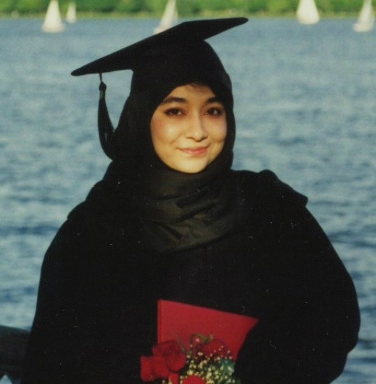 Dr. Aafia Siddiqui at her graduation (1995)