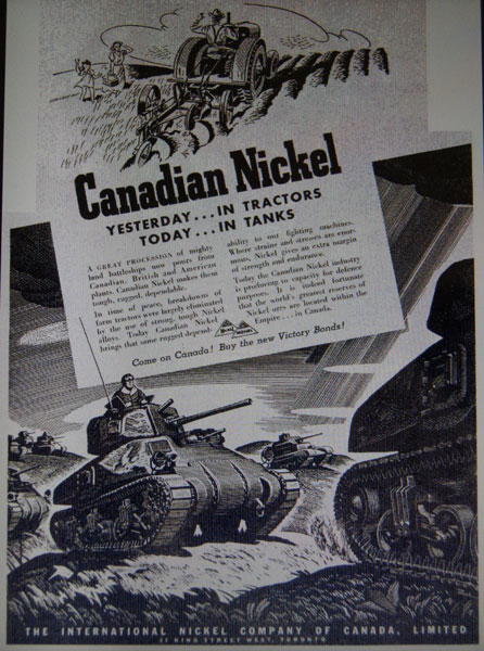 Hmmm...lets hope the same nickel didn't make its way into Nazi tanks.