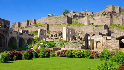The father of Asif Jah I led the assault on this fortress of Golconda. The grandfather of Asif Jah I was killed during the ensuing siege. Located on the outskirts of Hyderabad, this massive fortress, layered by seven huge walls, is a major tourist attraction.