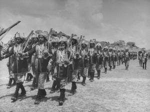 A Razakar parade in Hyderabad State.