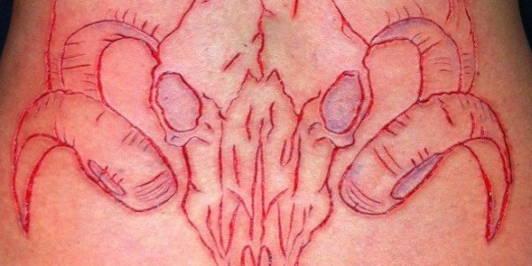 Tattoo of Baphomet.