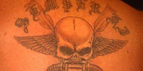 A USMC Semper Fi tattoo