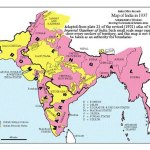 Prior to Partition, the entire Subcontinent consisted of the British Raj and subordinate Princely States (yellow).