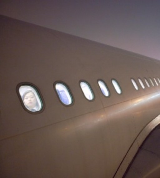"""""""but the interior was lit up like a hotel. One could almost see the passengers through the portholes."""""""