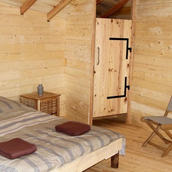 Cabane dans les arbres Cantal Auvergne Chambre