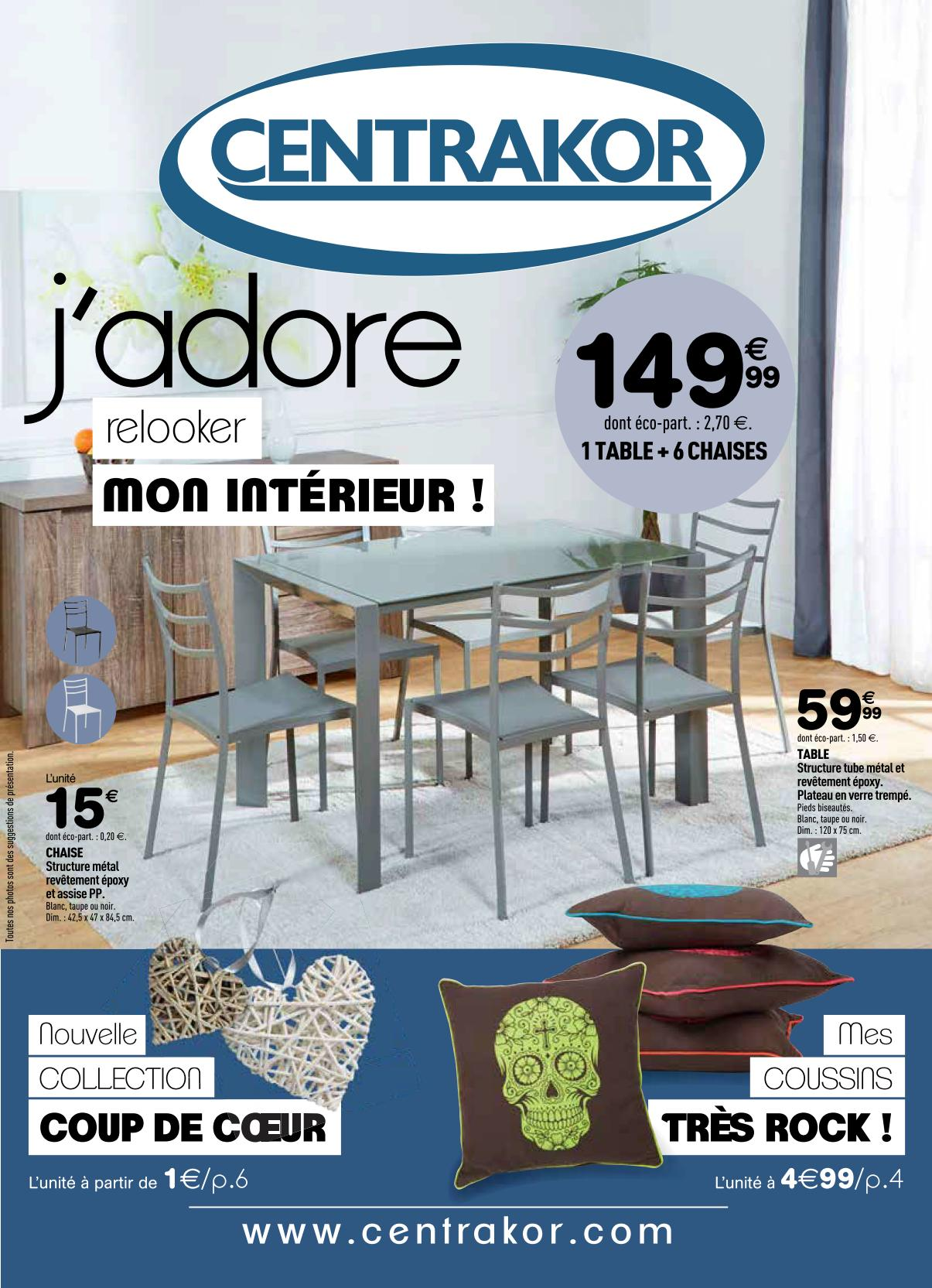 catalogue centrakor salon de jardin