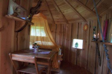 Intérieur de la cabane Barde