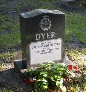A. Dyer monument at Necropolis