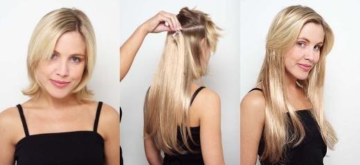 Alongamentos de cabelo.