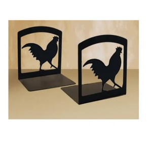 Rooster Cookbook Bookends