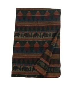Cabin Bear Throw Blanket