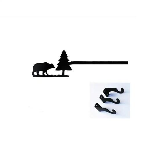 Bear extra Long Curtain Rod