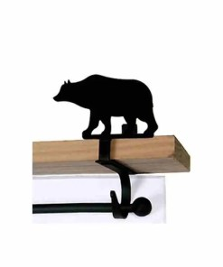 Bear Curtain Rod Shelf Brackets