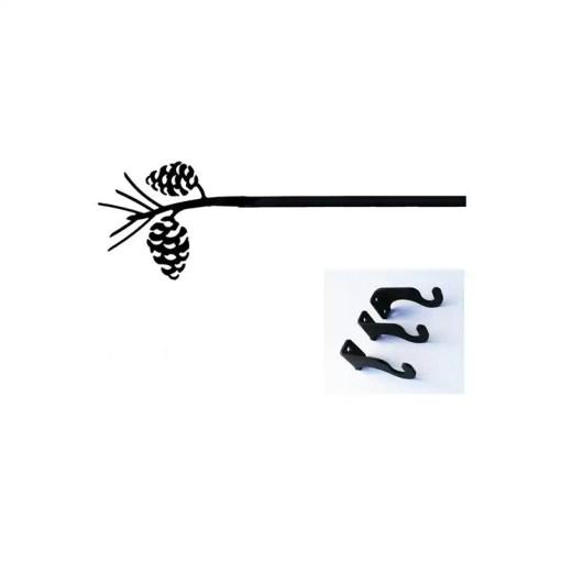 Pinecone Long Curtain Rod
