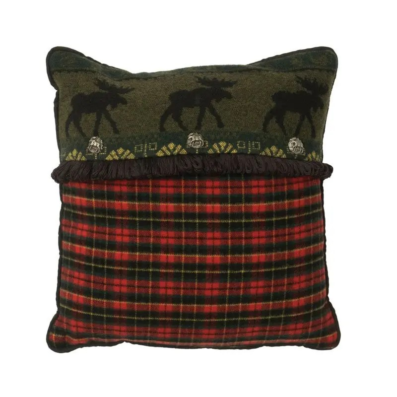 McWoods Red Plaid Pillow