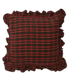 Red Plaid Bed Sham