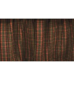 Hunter Green Plaid Bedskirt