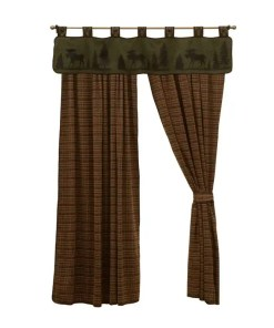 Moose Plaid Curtains Set