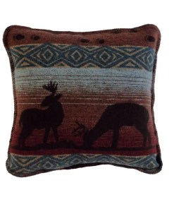 Deer Meadow Throw Pillow
