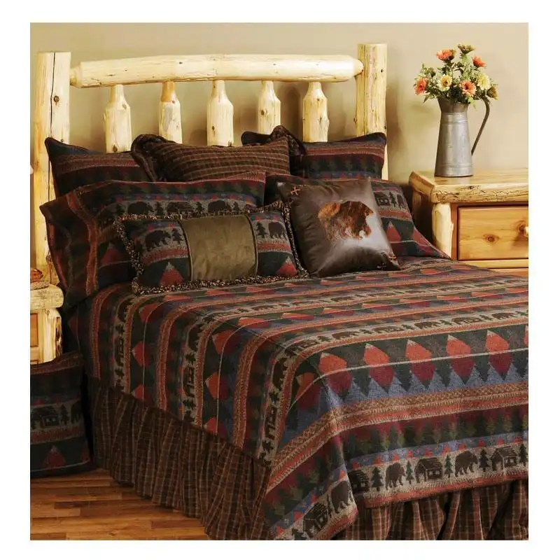 Cabin Bear Queen Bedspread