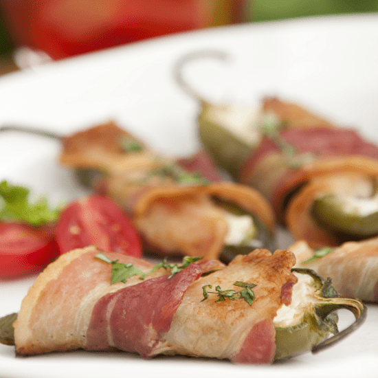 Cabin Creek Landing delicious cuisine stuffed bacon wrapped jalapeño wedding services