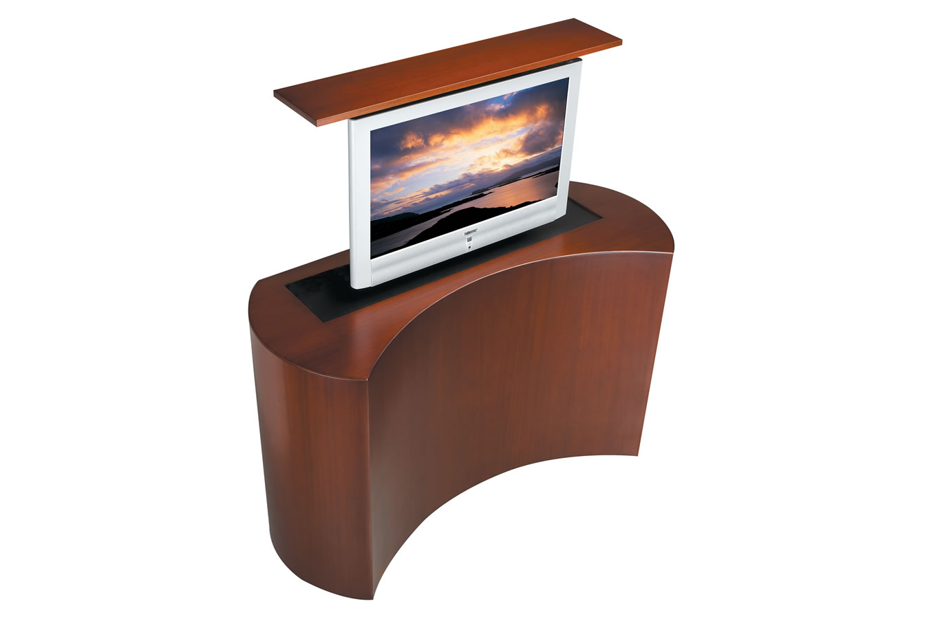 custom tv stand made stands coast retractable
