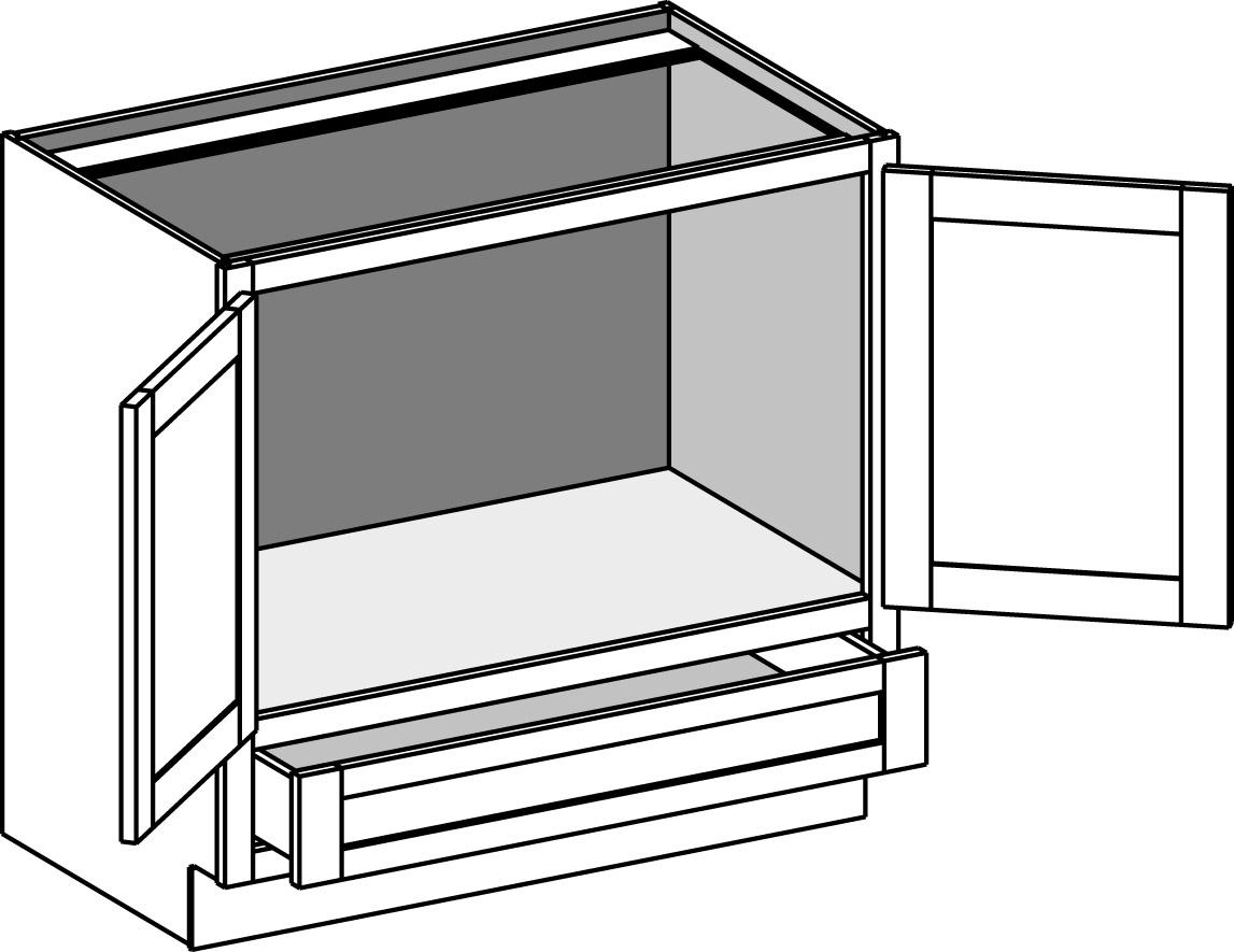 vanity base sink reverse cabinet w butt doors lower drawer vsrv csvsrv