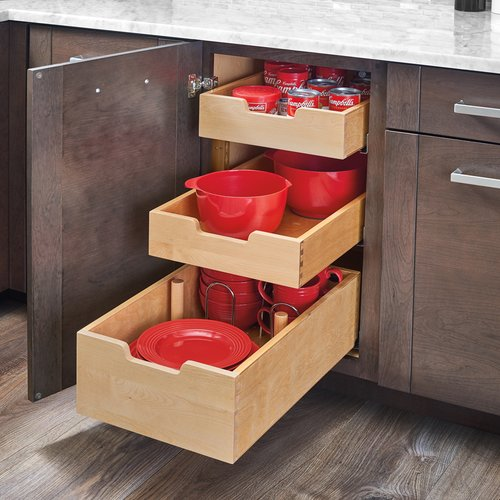 Rev A Shelf Tall Drawer With Dividers For 24 Inch Cabinet