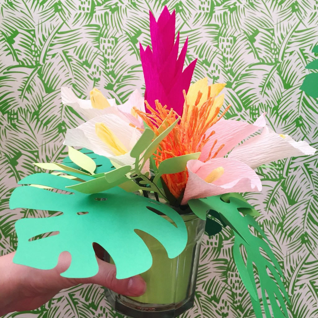 Paper flower mania with some templates from lia griffith and only a week to work once my supplies arrived i went to town making paper ginger flowers heliconia mightylinksfo