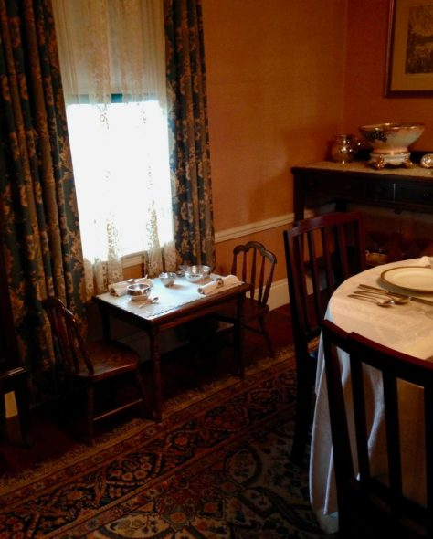 The children's table at the John Fitzgerald Kennedy National Historic Site