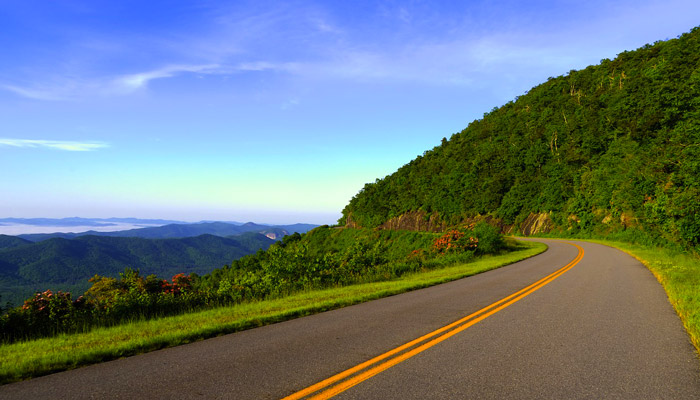 Roads In The Great Smoky Mountains