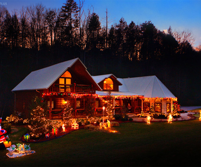 Mountain cabin christmas decorations for Tennessee winter cabins