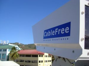 CableFree Free Space Optics installed in the British Virgin Islands