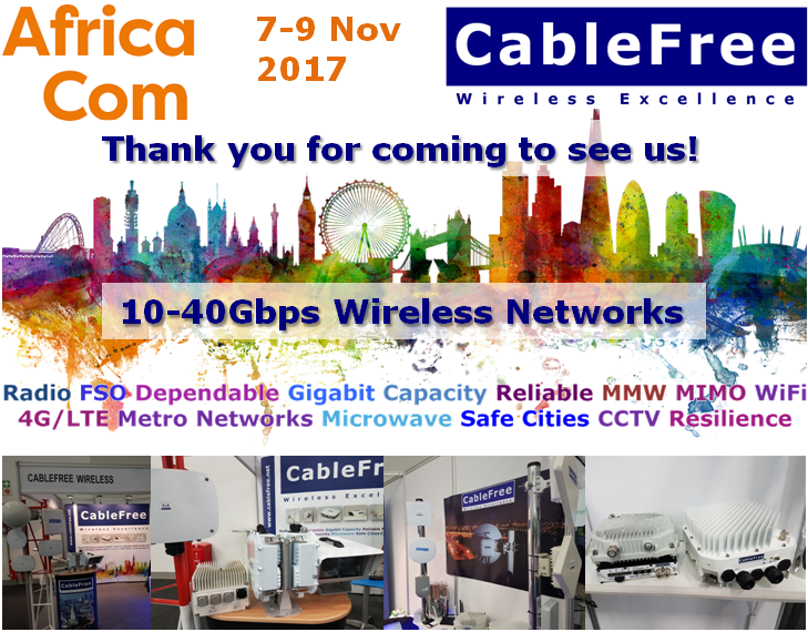 CableFree AfricaCom 2017 Wireless