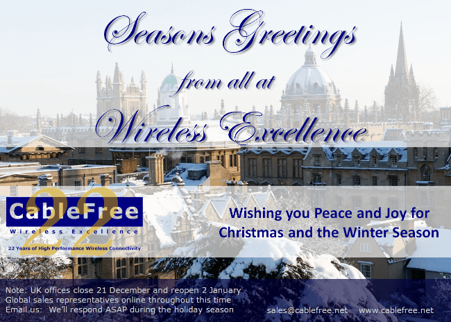 Seasons Greetings from Wireless Excellence