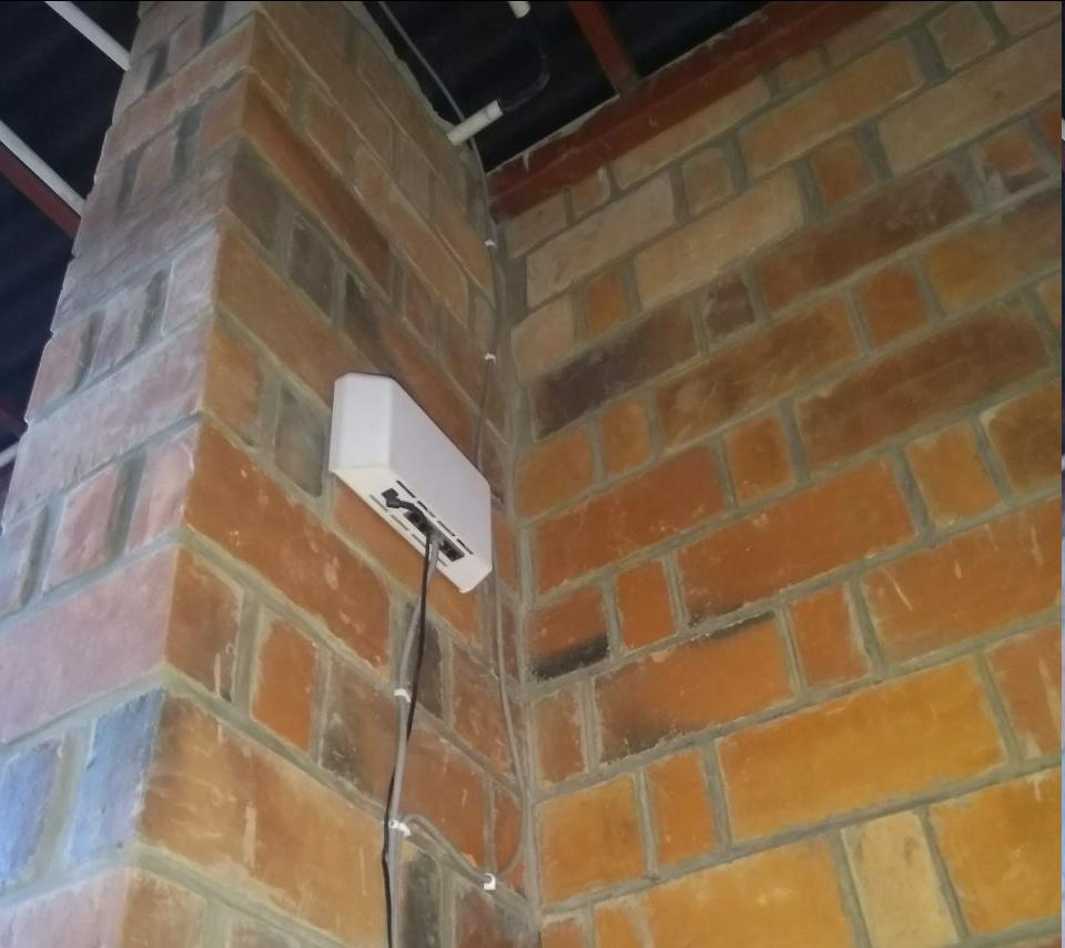 CableFree Rural Broadband using 4G LTE and Mesh WiFi in Africa - Mesh WiFi Unit installed in Masoro