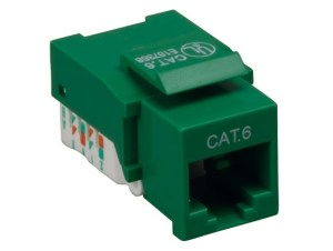 Cat6 RJ45 UTP Tool Less Keystone Jack White Color  Cat6 Keystone Jacks  Keystone Jacks