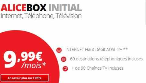 meilleures offres internet - Alice box initial