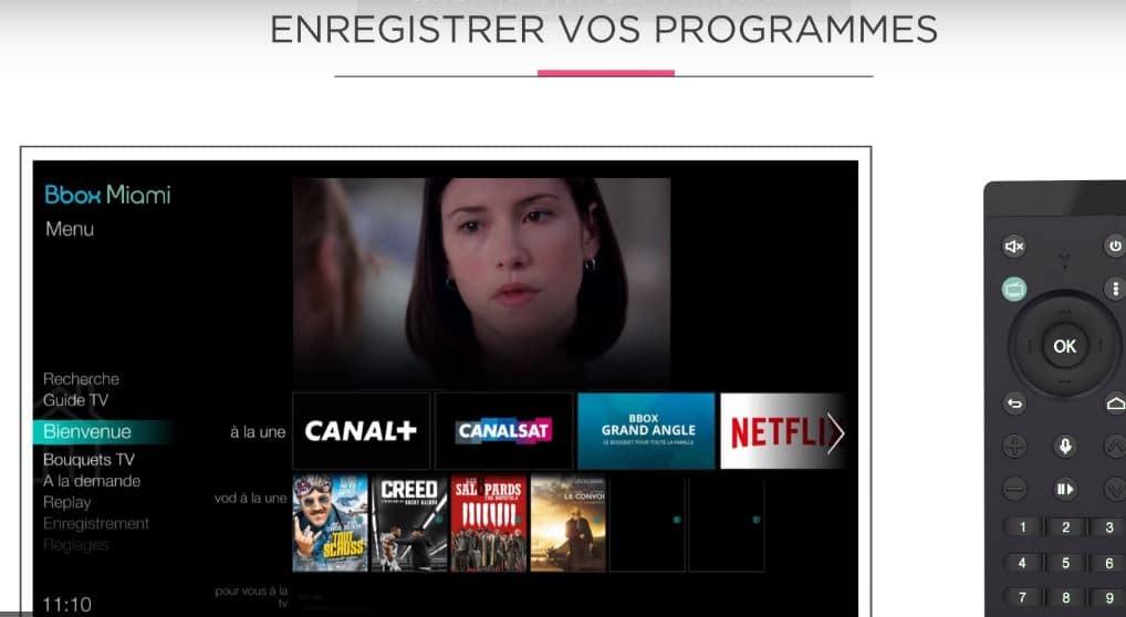 Bbox ou Bbox Miami : interface TV Bbox miami