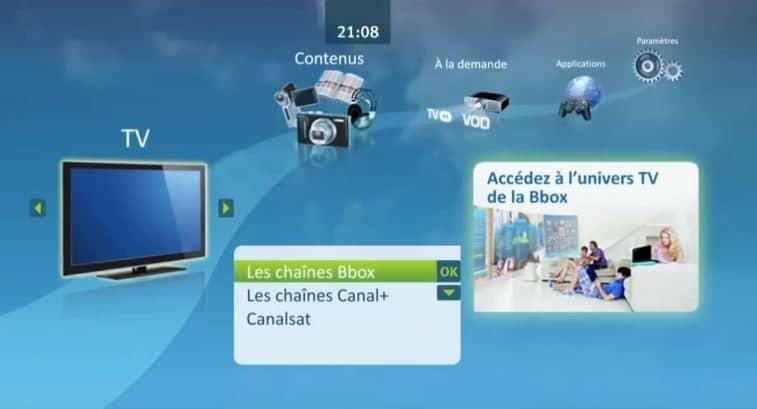 Avis Bbox : interface TV