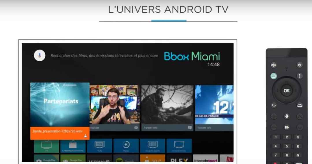 Bbox ou Bbox Miami : interface Android TV