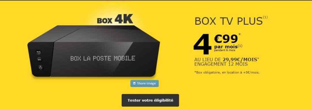 Les offres La Box Très Haut Débit de La Poste Mobile
