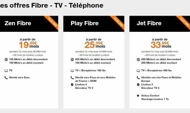 Les offres box internet sans engagement d'Orange (ADSL et Fibre)