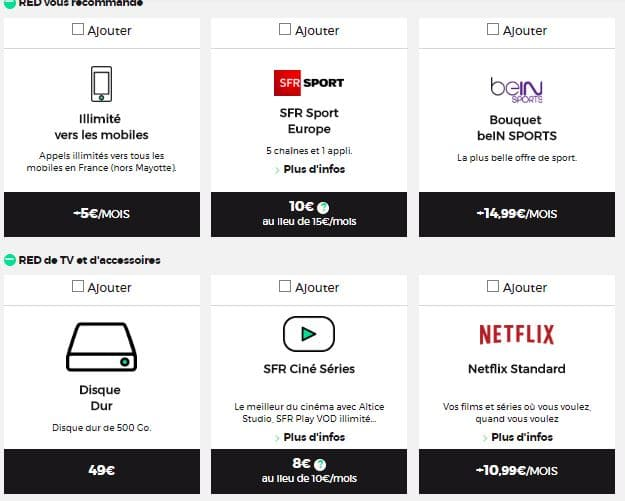 Red Box : les options Red TV