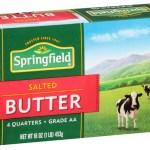 Dairy & Refrigerated-Springfield Butter Salted Quarter Sticks