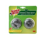 Household Supplies-Scotch Brite Spiral Steel Scrubbers