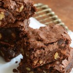 Just Desserts-Chewy Chocolate Brownies with Walnuts
