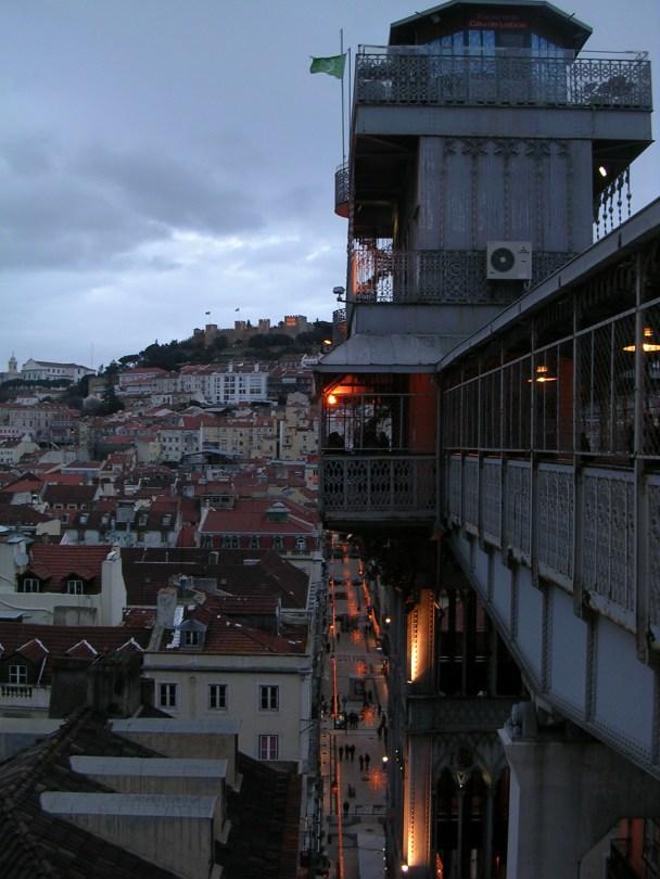 Vistas dende o elevador de Santa Xusta. Lisboa