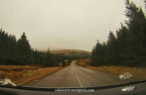 Polas montañas de Wicklow en Irlanda